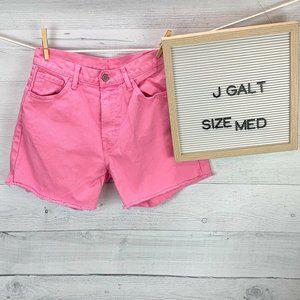 Pacsun J Galt Pink Cutoff Jean Shorts sz M